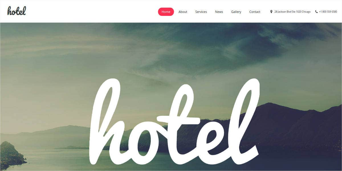 hotel booking moto cms template