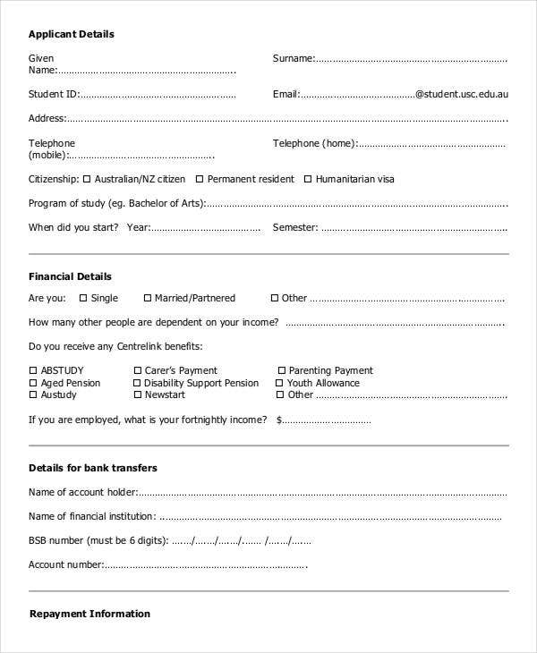 Lovely Student Loan Agreement Form Inside Printable Loan Agreement