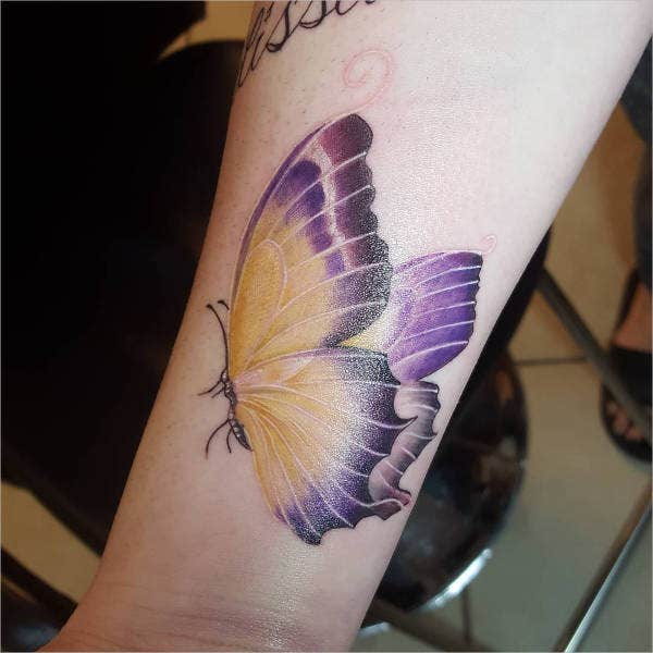 3D Butterfly Tattoo