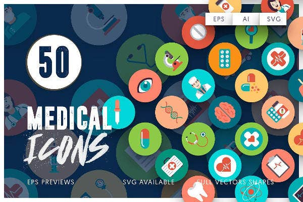 50+ Rounded Medical Icons