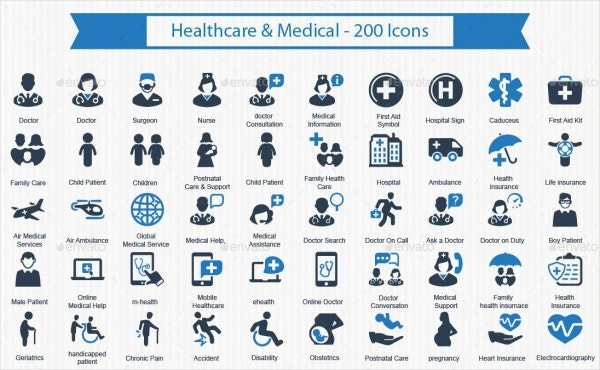 200+ Healthcare & Medical Icons