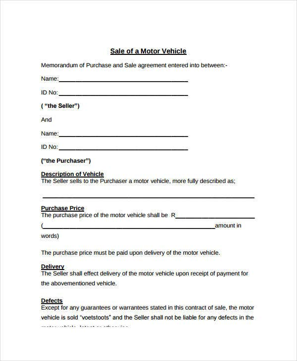 Sales Contract Template - 9+ Free PDF Documents Doownload | Free ...