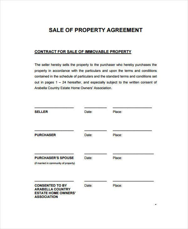Sales Contract Template 9 Free PDF Documents Doownload