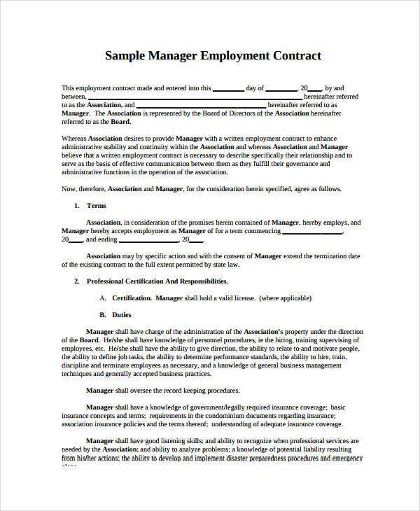 Sample Sales Contract Mutual Agreement Contract Template Best