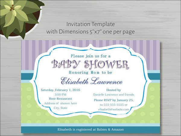 13+ Baby Shower Invitation Templates - Free PSD, Vector AI, EPS ...