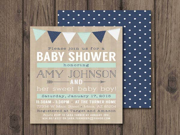 Rustic Baby Shower Invitation Templates