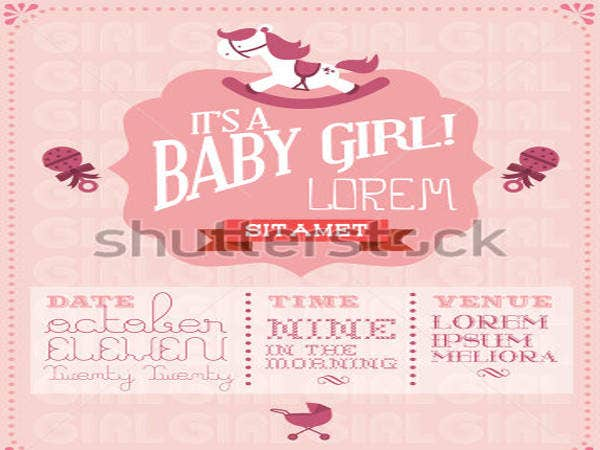 Baby Girl Baby Shower Invitation