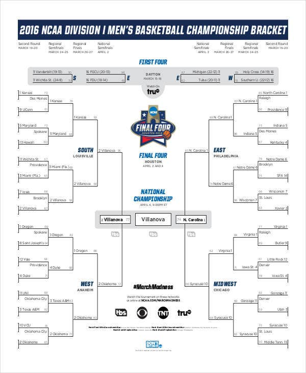 Mens College Basketball Tournament Brackets