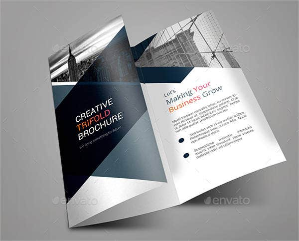 Custom Design Trifold Brochure Template