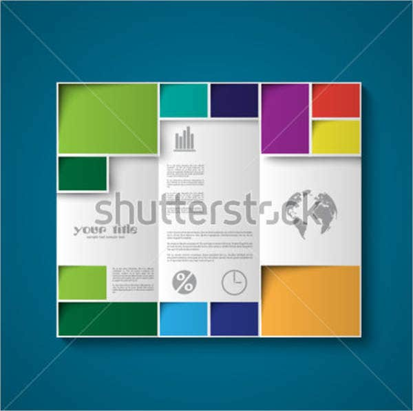 diffrent color trifold brochure design