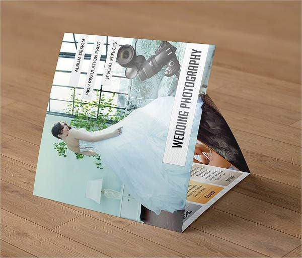square trifold for photography brochure