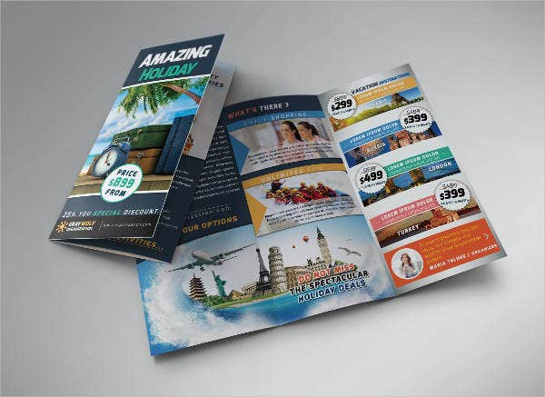 Travel and Tour Trifold Brochure