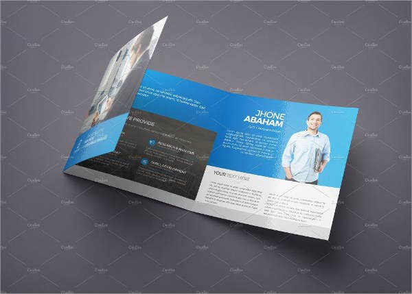 Tri fold Square Brochure Template