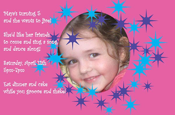 Free Simple Birthday Invitations for Girls