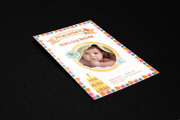 Kid's Birthday Invitation Card