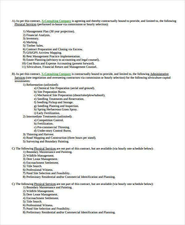 contract templates for consultants - sales contract template 9 free pdf documents doownload
