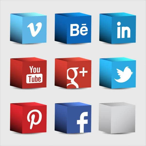 3D Social Network Free Vector