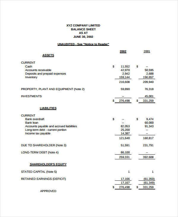 Income Statement Format   Free Sample Example Format  Free