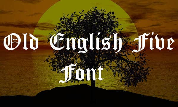 Gothic Old English Fonts