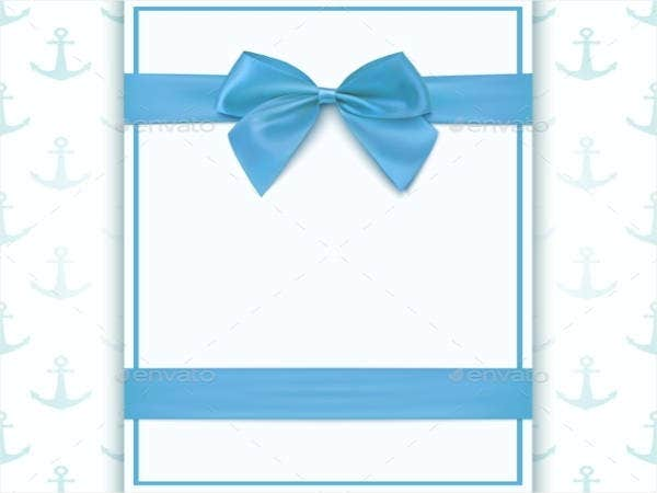 blank greeting card template