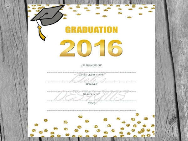 graduation blank invitations