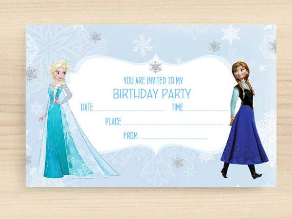 frozen blank party invitation
