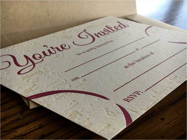 Fill in the Blank Invitations