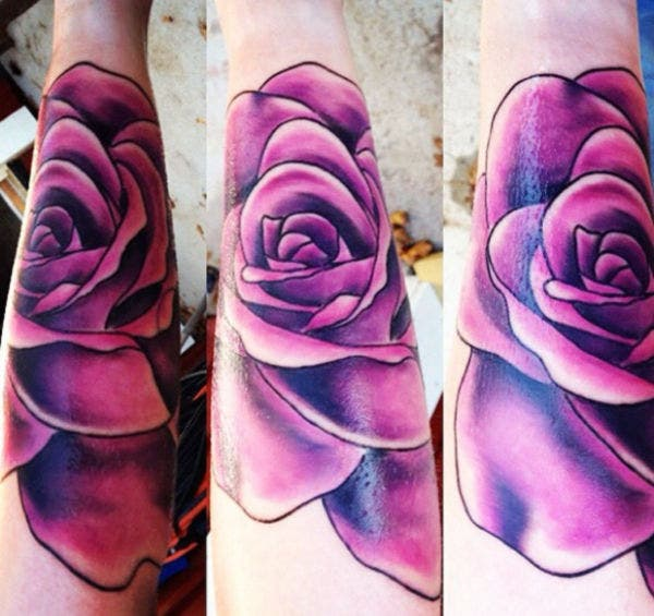 Rose Vine Tattoo Design