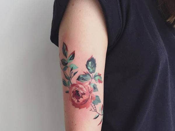 Floral Tattoos on Hand