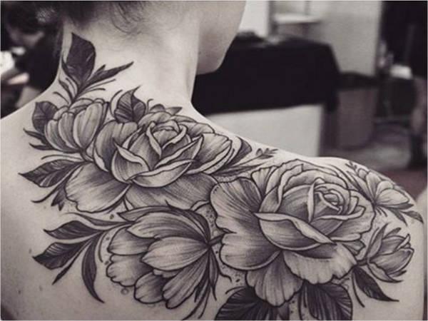 Floral Tattoos on Back