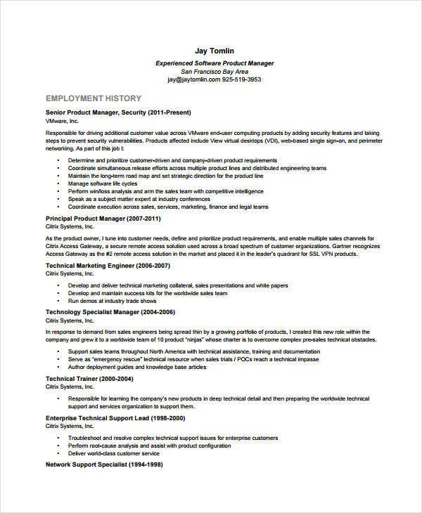 software product manager resume - Product Owner Resume