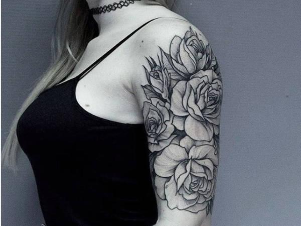 Big Floral Tattoos