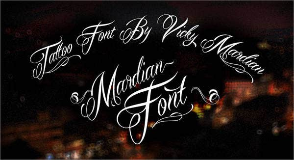 Cursive Tattoo writing Fonts