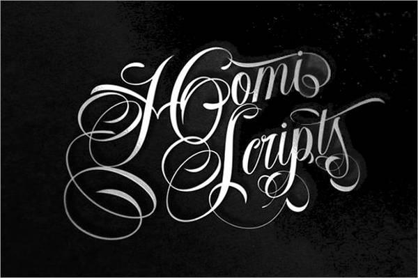 Homi Script Cursive Tattoo Font