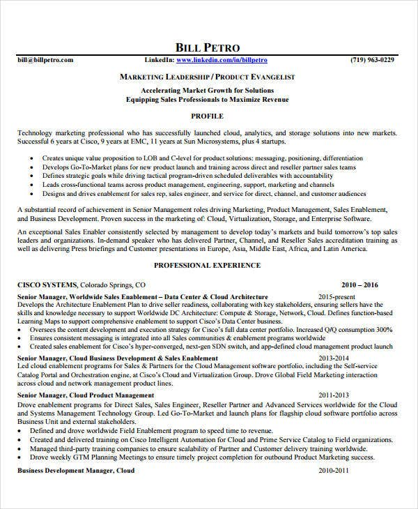 Product Manager Resume   Free Pdf Documents Download  Free