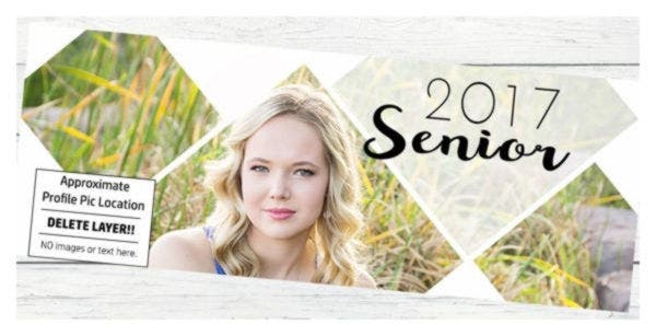 Senior Facebook Cover Template