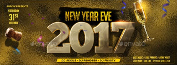 New Year Eve Flyer Designed Facebook Cover