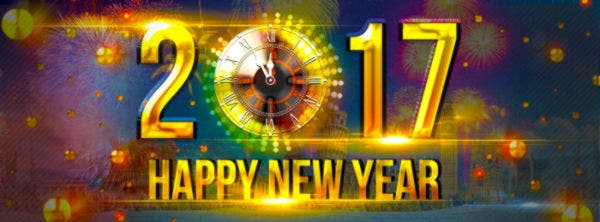 Free 2017 New Year Facebook PSD Cover