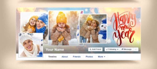 Beautiful New Year Facebook Cover Template
