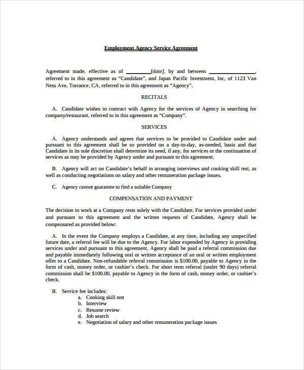 Service Agreement - 9+ Free Pdf, Word Documents Download | Free