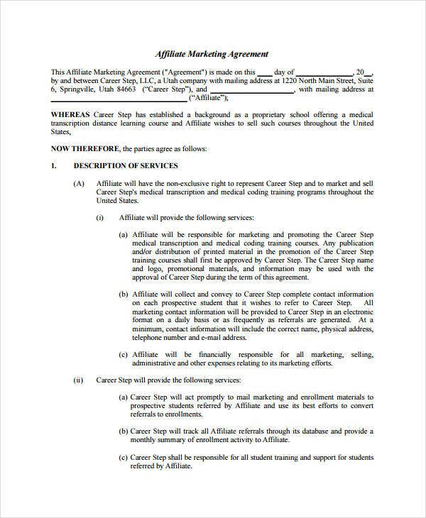 Marketing Agreement Employee Agreement Is A Contract Between An