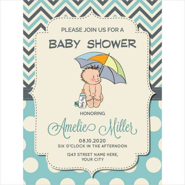 baby shower invitation free vector