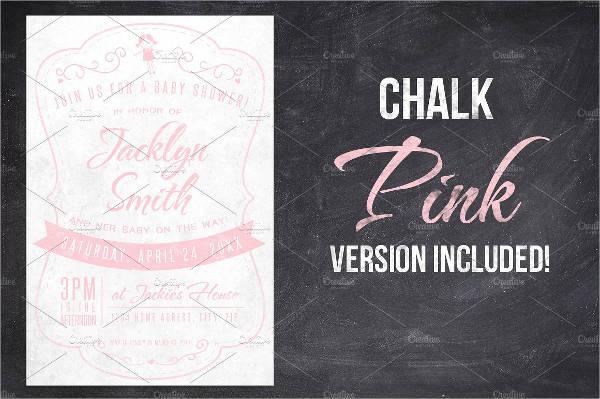 chalk baby shower invitaion