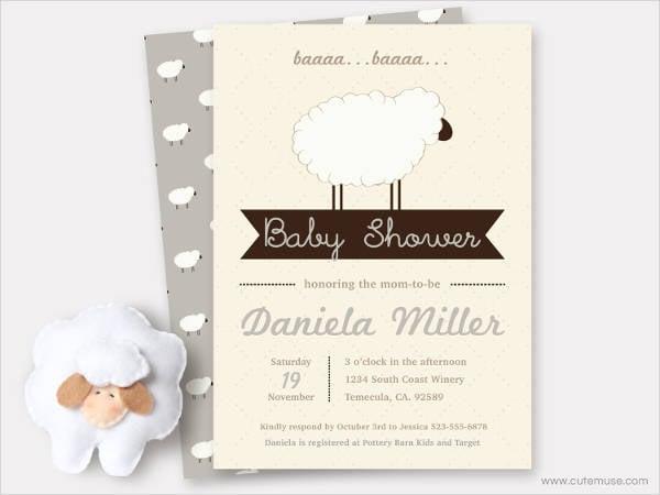 little baby shower invitation