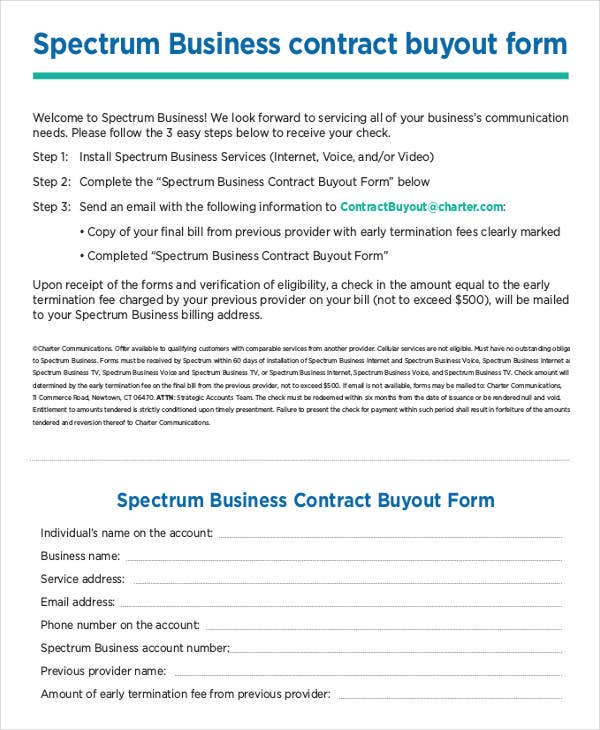 Spectrum Business contract Template