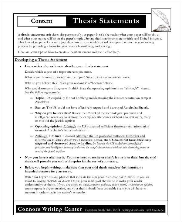 creating a thesis statement activity Lassroom activity: understanding and writing a thesis statement description: it is creating a thesis statement have any of you heard this term before.