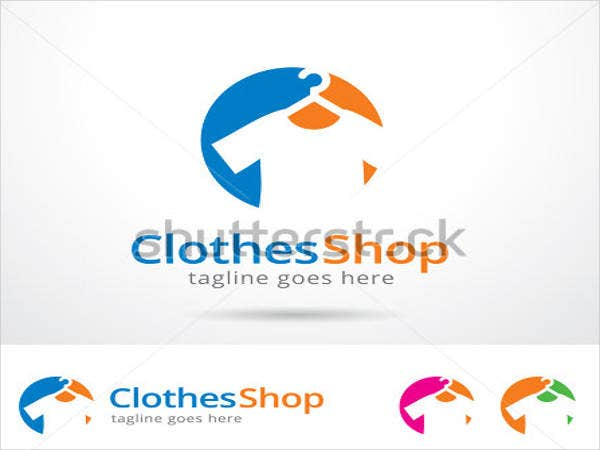 clothes shop logo template design