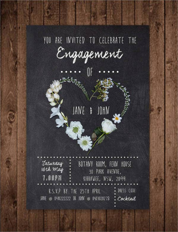 engagement dinner invitation