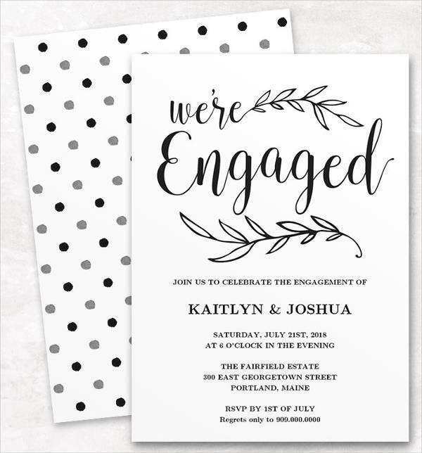 Wedding Engagement Invitation