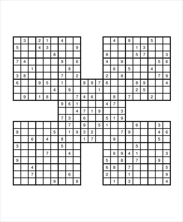 graphic regarding Sudoku Samurai Printable identified as Printable Sudoku Puzzle - 7+ Free of charge PDF Files Obtain